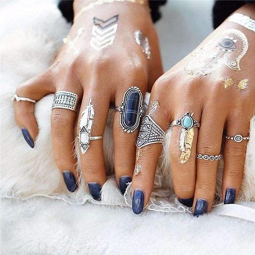 RIPD Art Wear Boho Ring Set