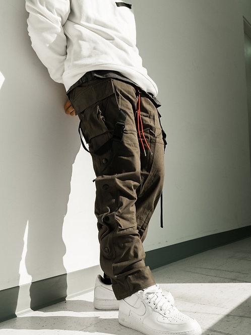 RIPD Art Wear Stripe Cargo Pants - Olive