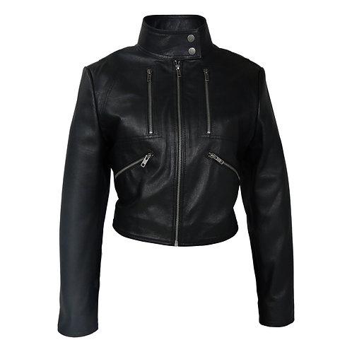 RIPD Art Wear Sexy Bolero Leather Jacket