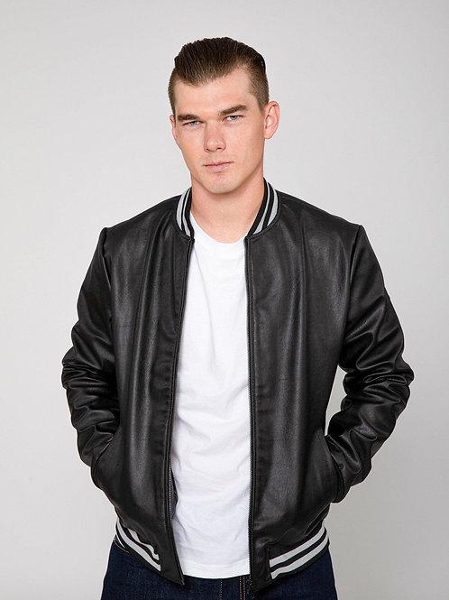 RIPD Art Wear Varsity Lightweight Faux Leather Bomber Jacket