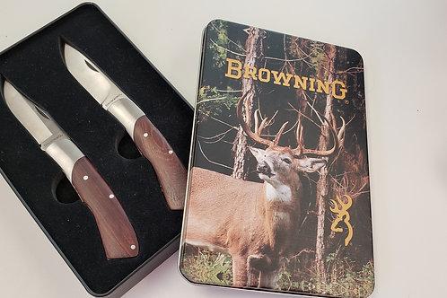 Browning 2 Knife Tin