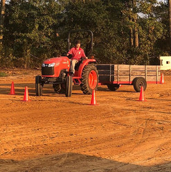 Nathan and AJ competed in truck and trac