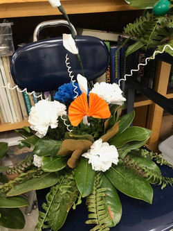 Recycled Material Floral Arrangement