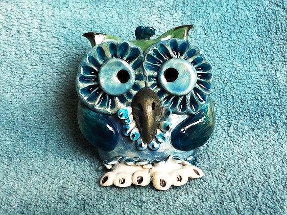 Blue Owl with White Feet