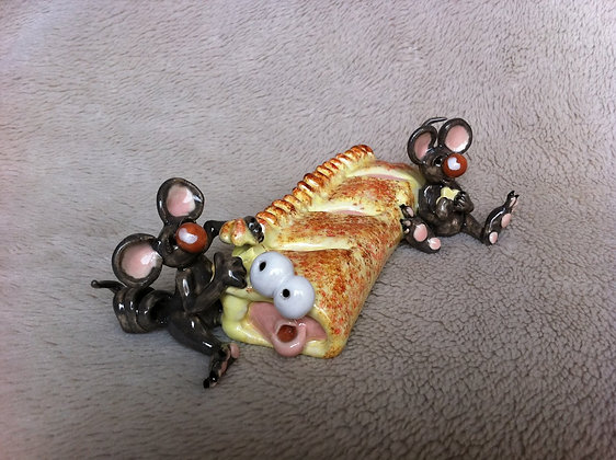Mice Eating Sausage Roll