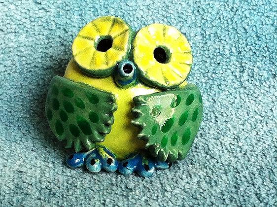 Green Hooty Owl