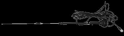 Antena para radio externo marca South con cable
