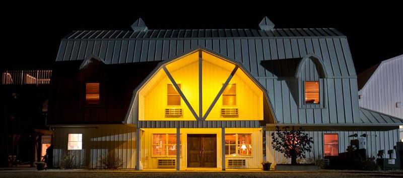 Oak Tree Lodge at Night