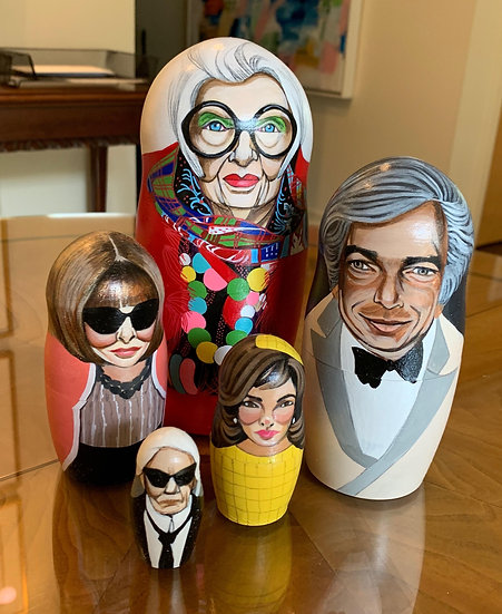 STYLE ICON NESTING DOLLS BY GINGER WILLIAMS COOK