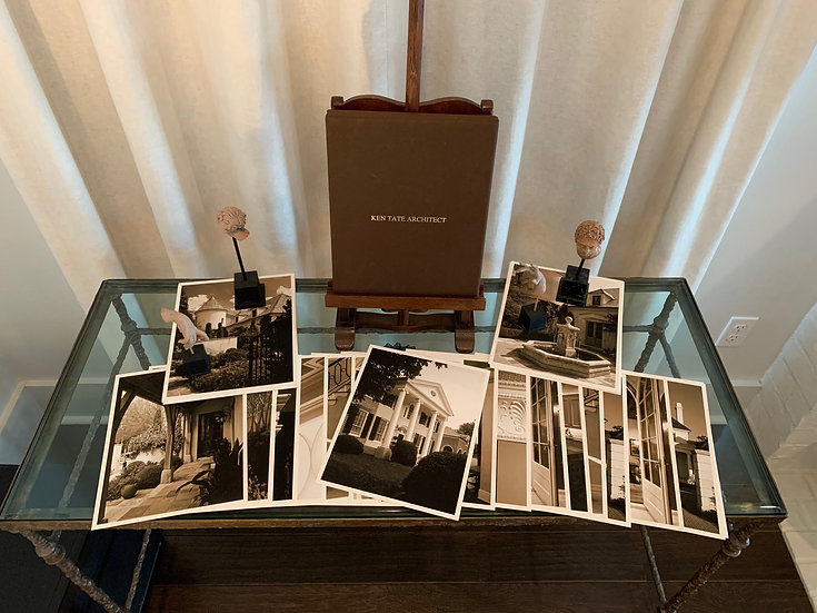 """LTD EDITION KEN TATE SEPIA TONED IMAGES OF SELECT HOUSES IN BOX """"SIGNED"""""""