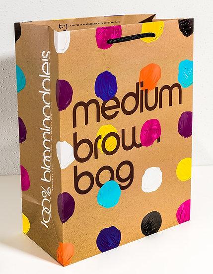 BLOOMINGDALE'S ICONIC BROWN BAG DOT DESIGN BY KEN TATE