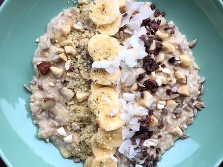 Frühstücksporridge mit Kokosmilch vegan