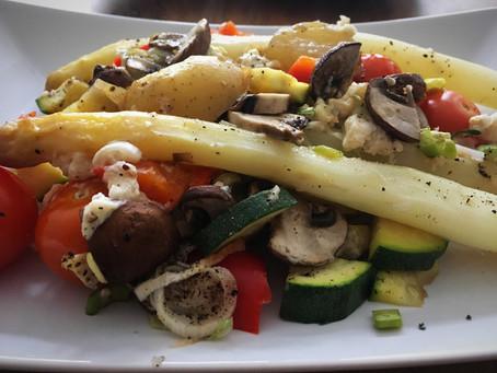 Spargel-Gemüse-Auflauf