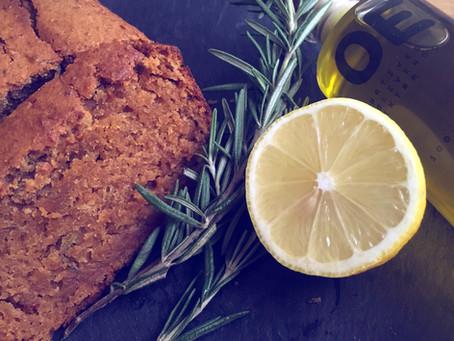 Zitronen-Olivenöl-Rosmarin-Kuchen