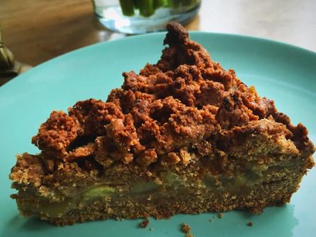 Apfel-Streuselkuchen vegan & ohne raffinierten Zucker
