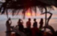 Costa Rica, Santa Teresa, Sonnenuntergang, Pura Vida Gruppe