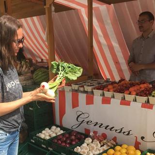 Frisches Gemüse vom Wochenmarkt