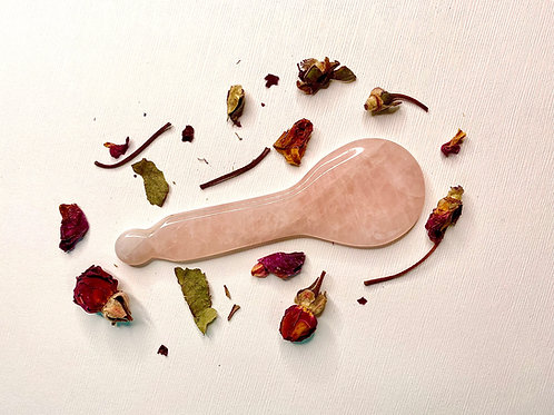 Rose Quartz Gua Sha Spoon