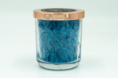 """""""We'll Always Have Paris"""" French Parfum Scented Blue Palm Wax Candle"""