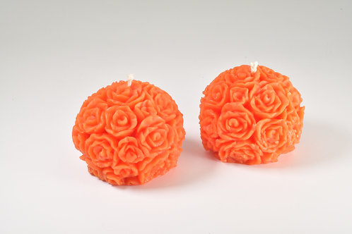 Apricot Table Rose Beeswax Candles, Boxed in Singles Pairs or Sets of Six