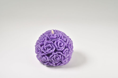 Purple Table Rose Beeswax Candles, Packed in Singles Pairs or Sets of Six