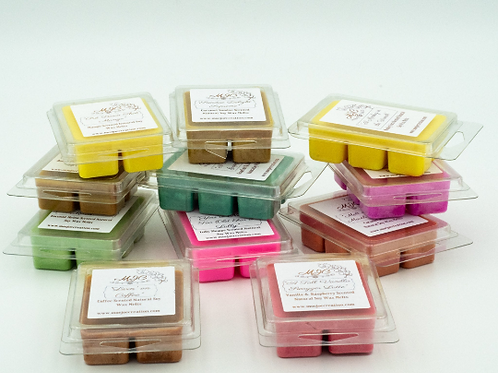 Gift Pack of Coloured Soy Wax Melts in Packs of Three, Five and Eight