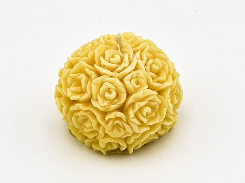 Organic Natural Beeswax Unscented Table Rose Decoration