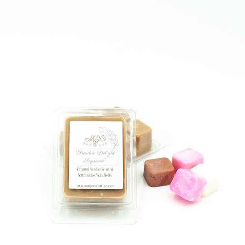 """Sundae Delight Supreme"" Scented Soy Melts in Singles and Threes"