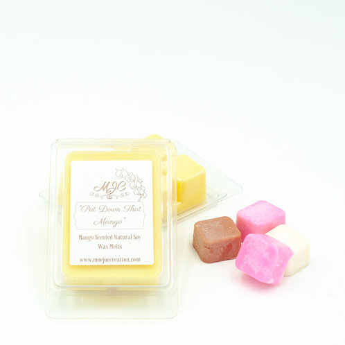 """""""Put Down That Mango Scented Soy Wax Melts in Singles or Packs of Three"""