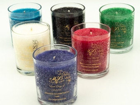 """Design Your Own"" Palm Wax Candle in a Glass Tumbler"