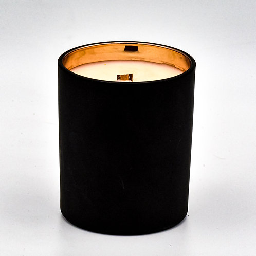 Absinthe Crystal Deluxe Soy Wax Candle in Black and Rose Gold Reusable Tumbler