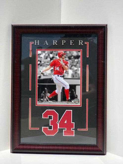 Framed Bryce Harper