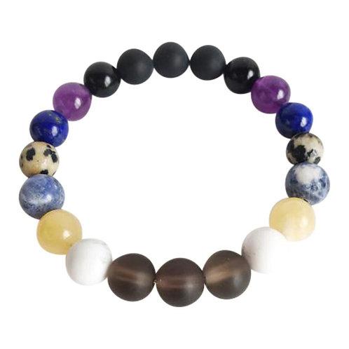 Renew-Healing-Balance-Transmute Negative Energies-Mix  Gemstone Bracelet