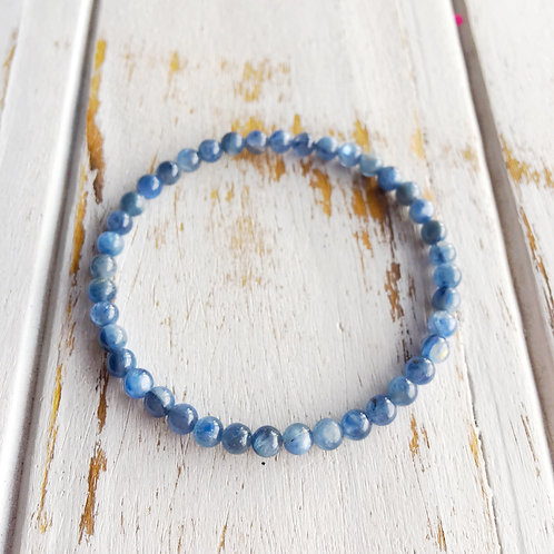 Embrace the Dance of Life - Restoring Energy & Balance -Blue Kyanite Bracelet