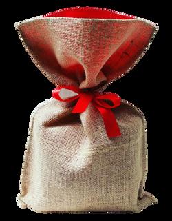 Saco de Juta com fita vermelha