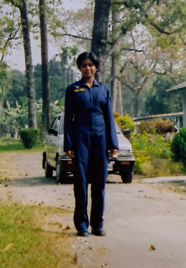 Proudly with her uniform. Pic Credit: Toolika Rani