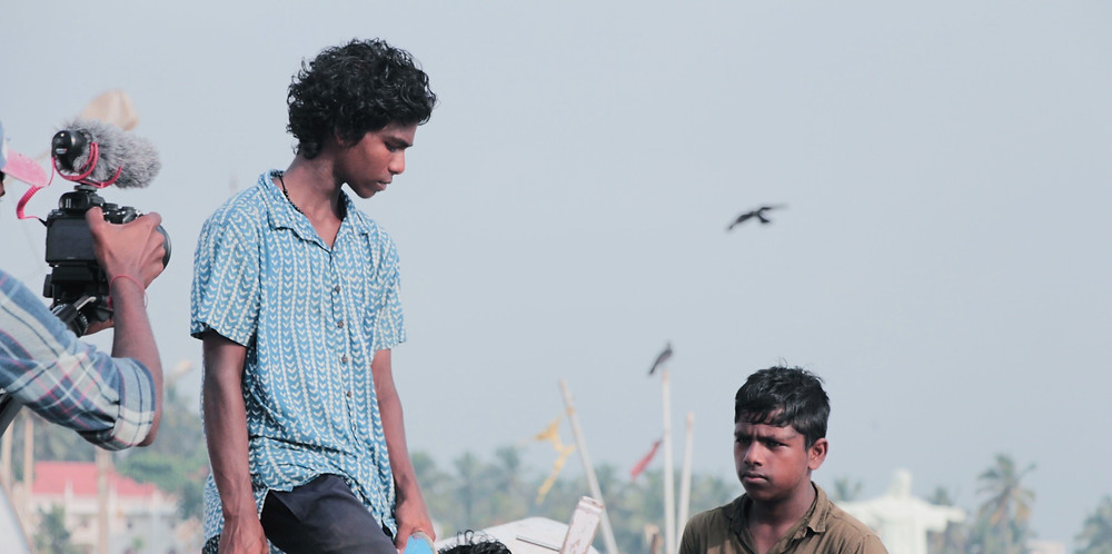 BTS of DREAMS ON BOARD, Rahul on right and Kichu on left. Pic Credit: Shefin sha