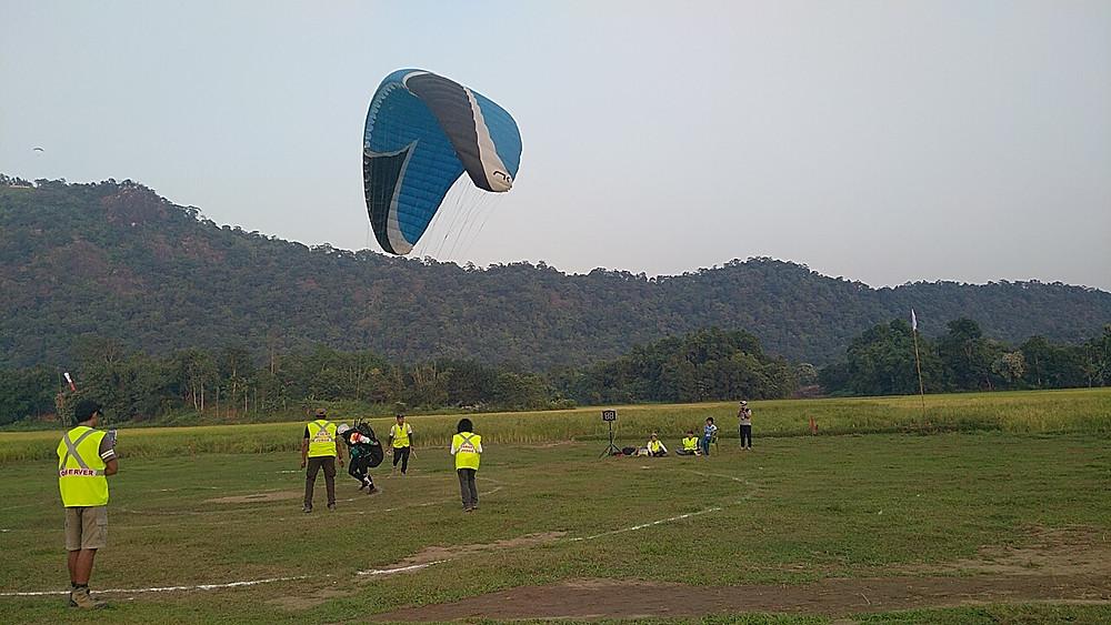 Rinzing Doma Bhutia during her final round landing