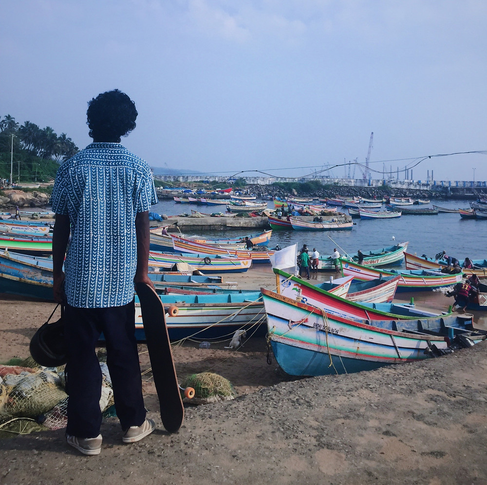 Rahul from his village Vizhinjam. Pic Credit: Hafis