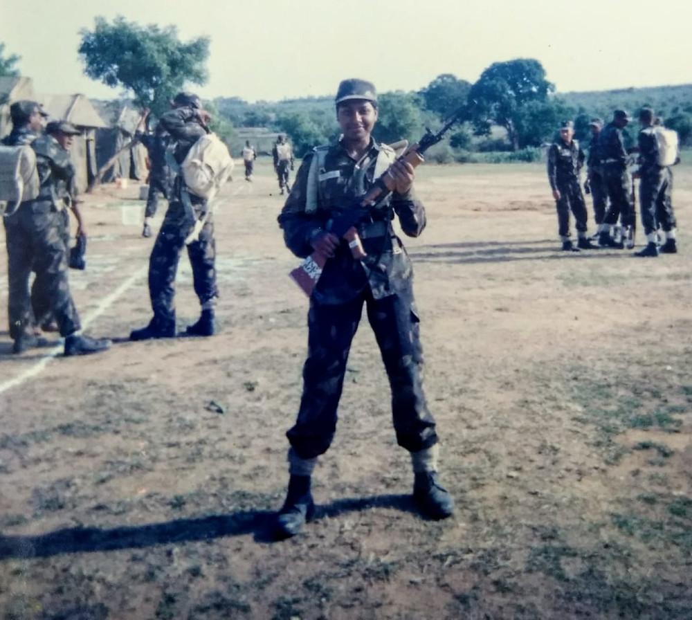Squadron Leader Toolika Rani during camp. Pic Credit: Toolika Rani