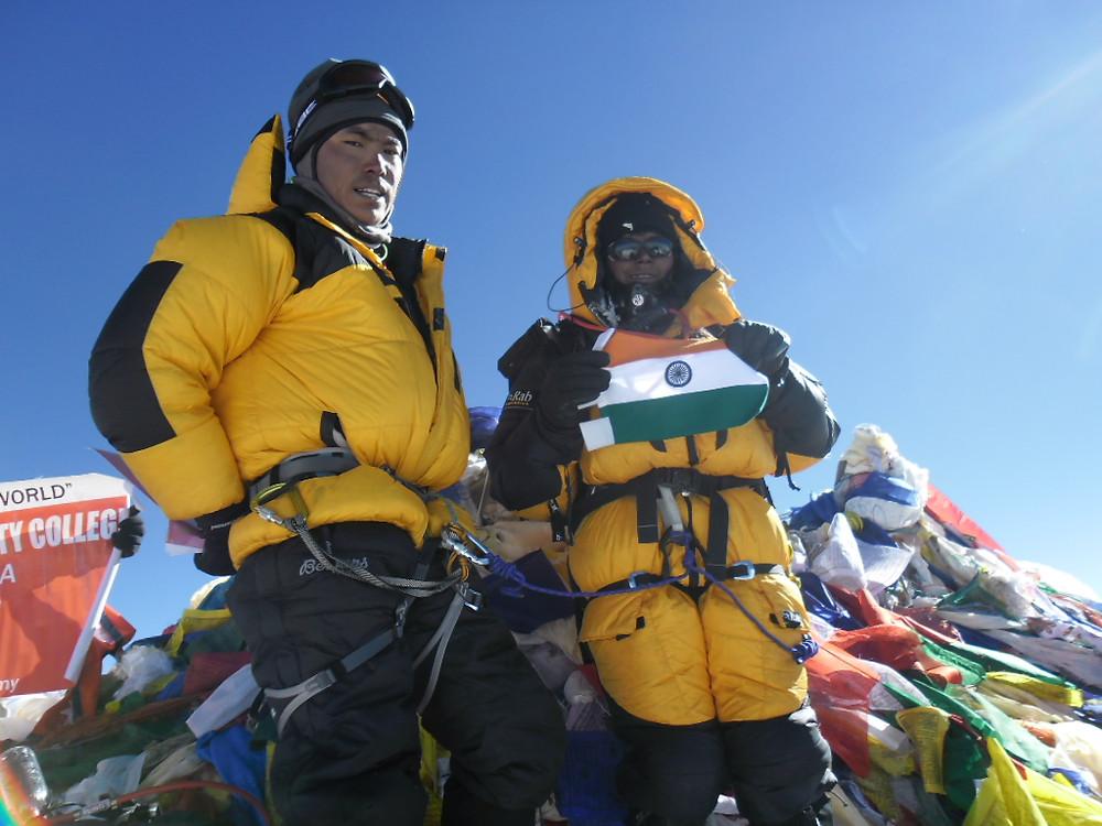 Toolika On Mt. Everest Summit, 26 May 2012. Pic Credit: Toolika Rani