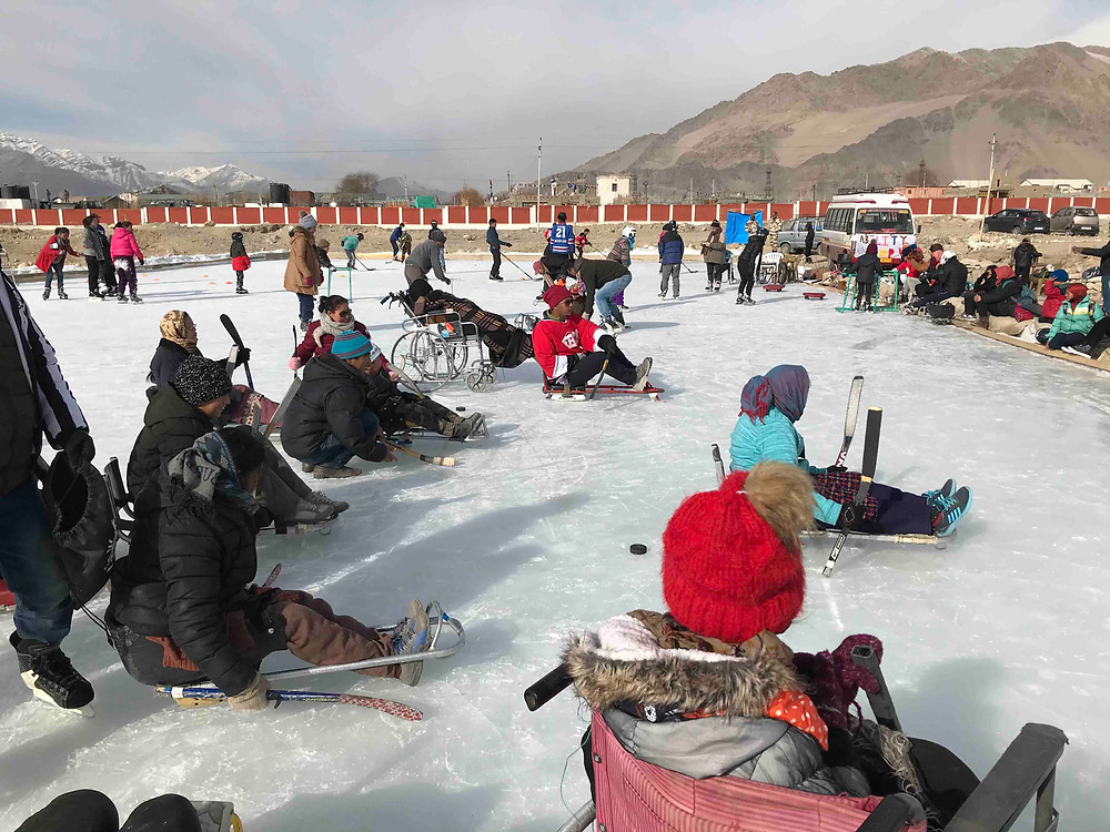 Ability camp organised by PAGIR in Leh. Pic Credit: Shruti More