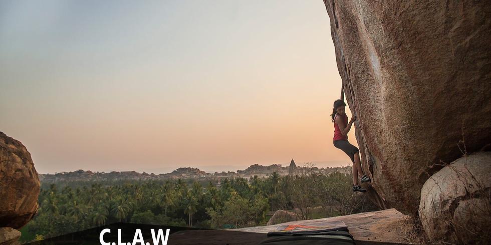 CLAW (Climb like a woman) in Hampi