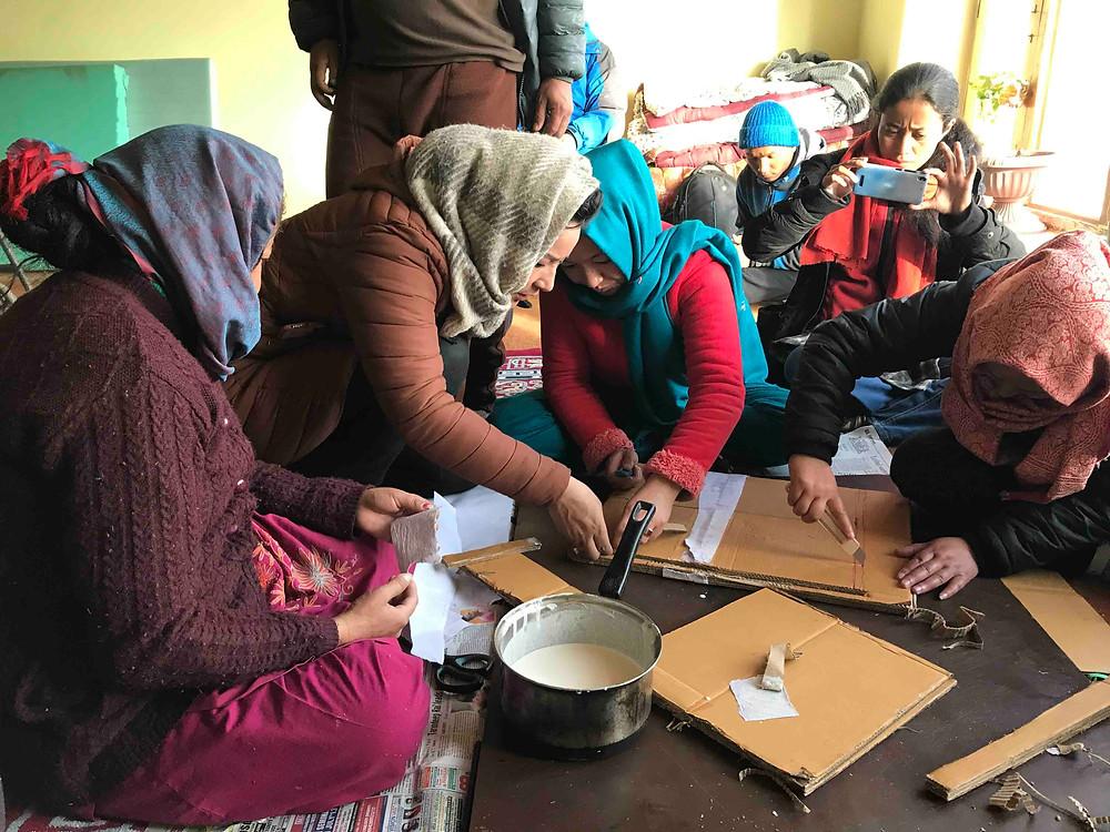 People enjoying their time making crafts. Pic Credit: Shruti More