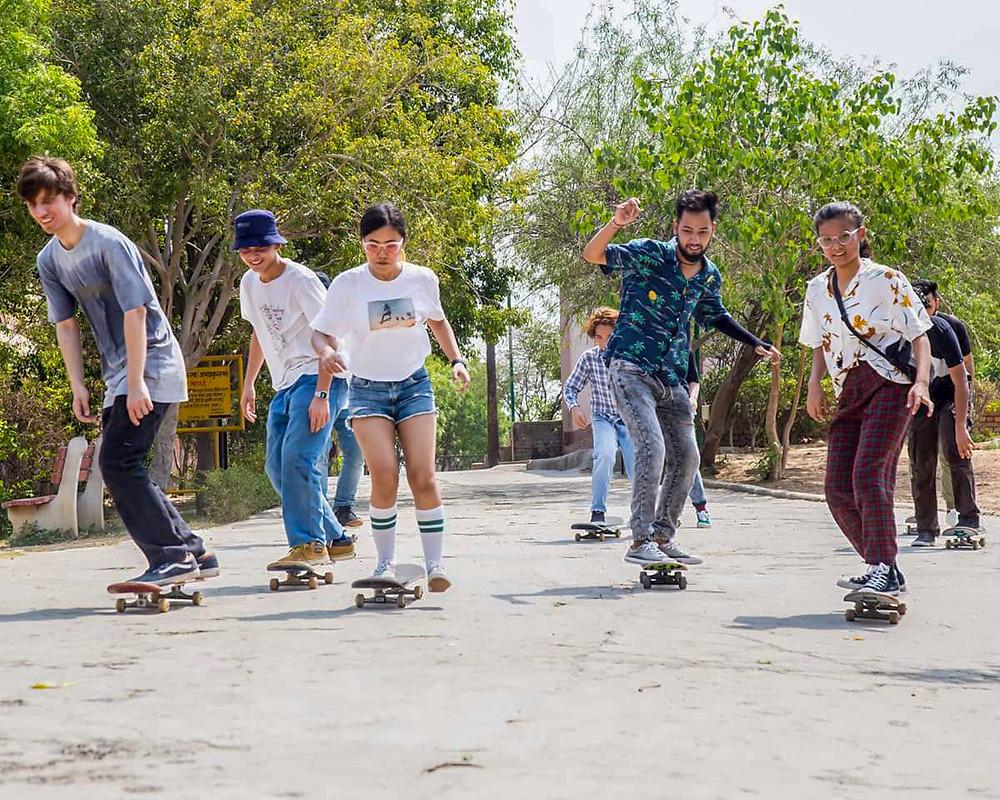 Resuienla longkumer from Nagaland enjoying some skate time in Delhi.
