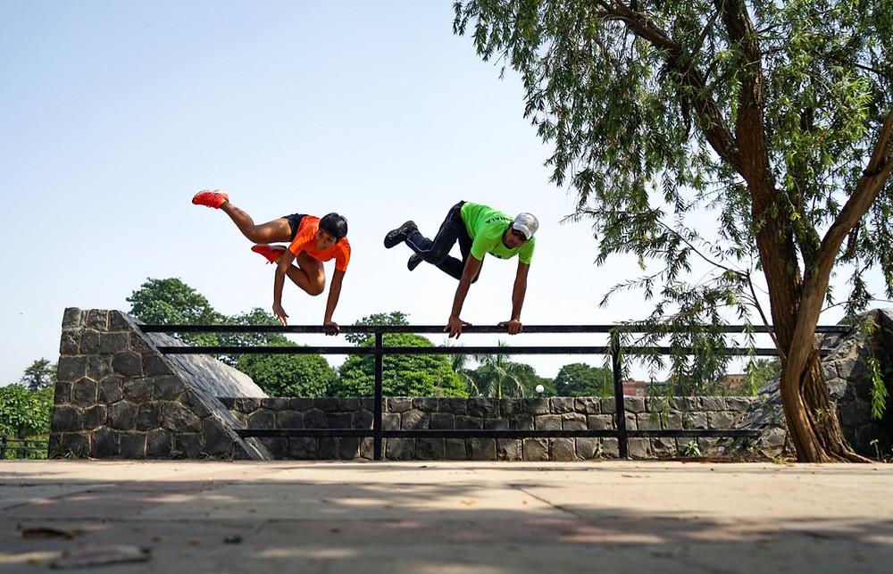 Kriti Gupta on left and Aman on right