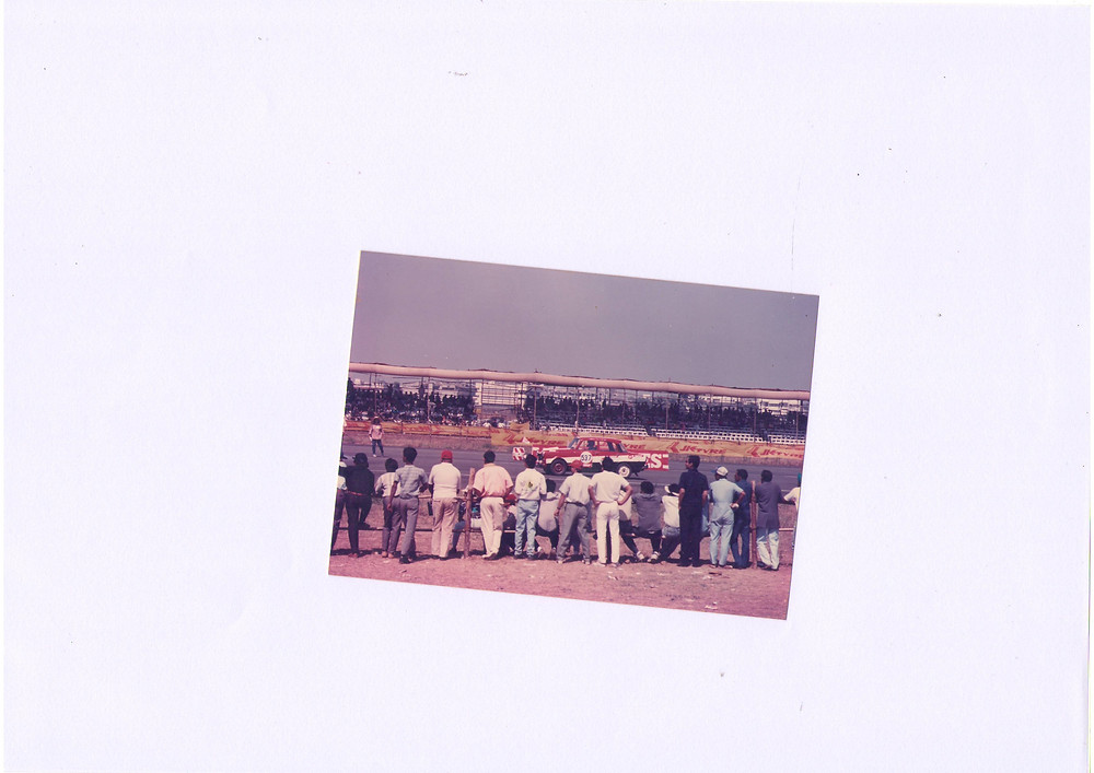 Driving a Fiat, 1987 Sholavaram. Won all the races that weekend.