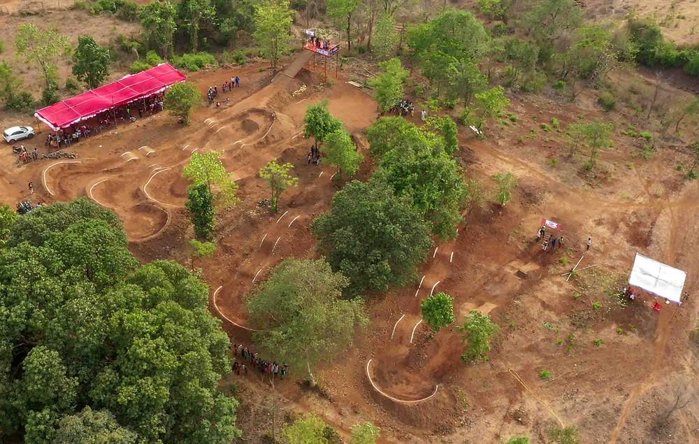 Aerial view of pumptrack