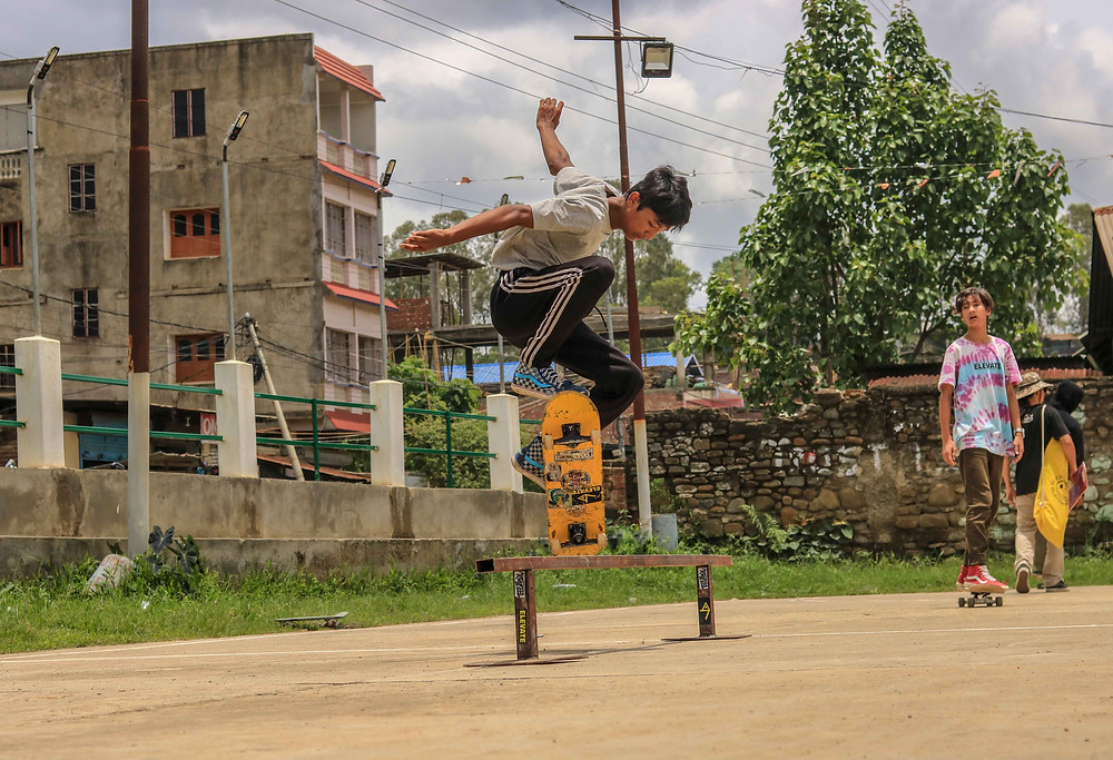 Ranju Chingambam from Manipur doing Ollie over the rail!! Pic credit: Elevatemanipur