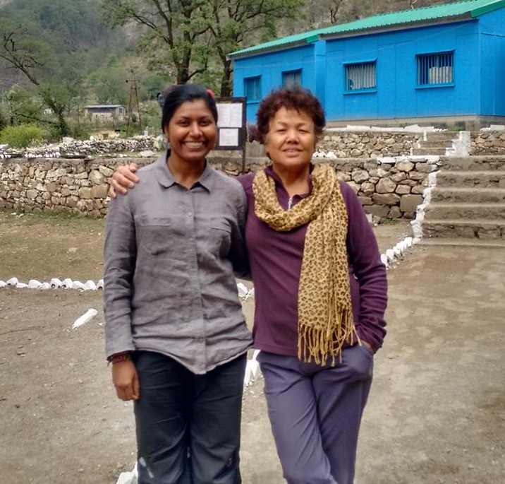 Two strong women in one frame, legendry mountaineer respected Ms. Bachendri Pal(right) and with Toolika. Pic Credit: Toolika Rani